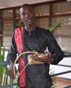 Boaz Otieno Akech, Orutu maestro. Photo by Daisy Ouya
